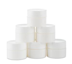 Recipientes para mezclas color blanco